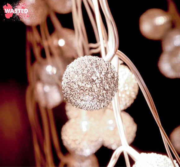 Silver Ball String light