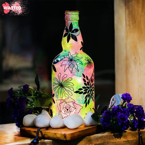 Enchanted Garden bottle Lamp