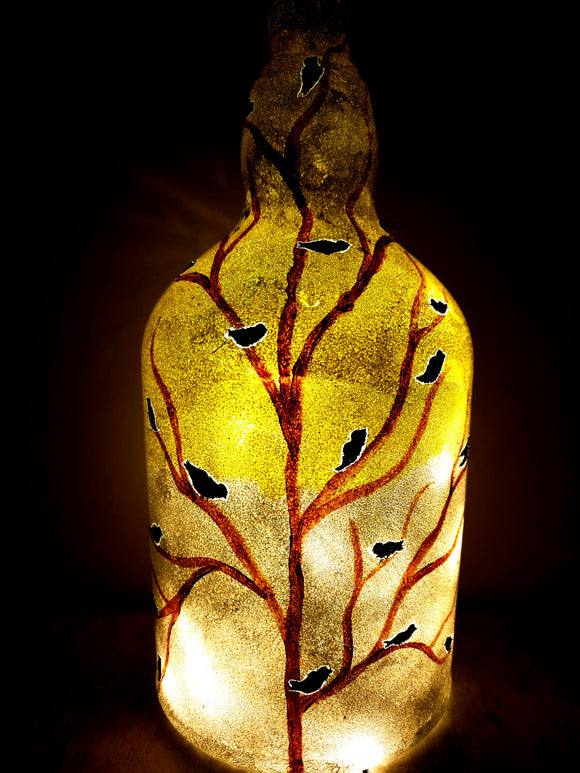 Crack of Dawn Bottle Lamp