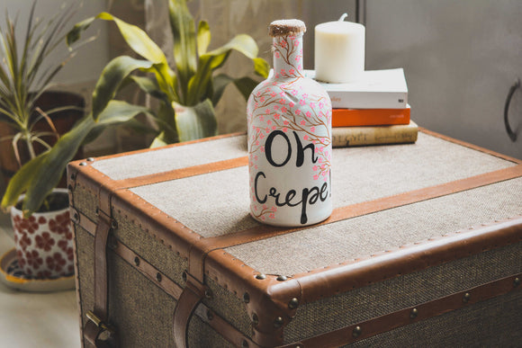 Oh Crepe! Bottle Lamp