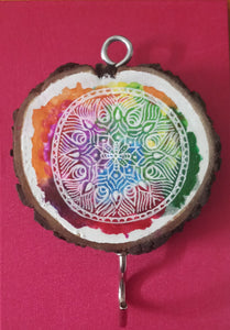 Mandala design key holder