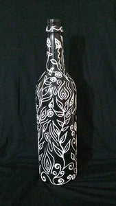 Monochrome magic bottle vase