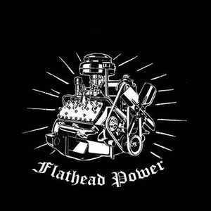 Ford Flathead Power! Model A Ford Mercury HOTROD Kustom Car Shirt