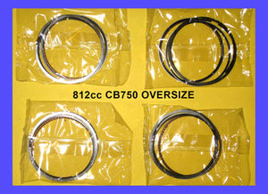 Honda CB750 Piston Rings x4 sets! 812cc 64mm 1969-1976 Oversize rings Big Bore