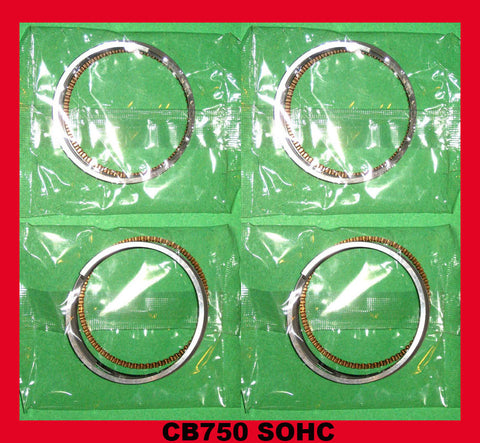 Honda CB750 Piston Rings x 4 sets!! - STD. 1971 1972 1973 1974 1975 1976 SOHC