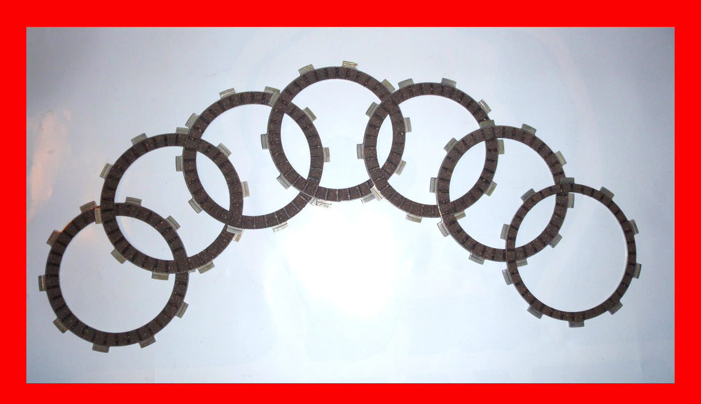 Honda FT500 Ascot Clutch Friction Disc Set 1982 1983 Motorcycle Flattrack