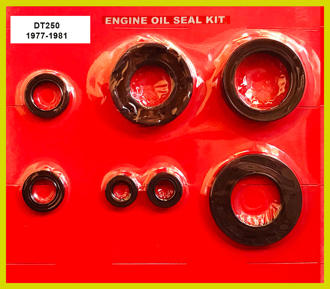 Yamaha DT250 Oil Seal Kit 1977 1978 1979 1980 1981 250 Engine Crank Shift Kick Clutch Sprocket