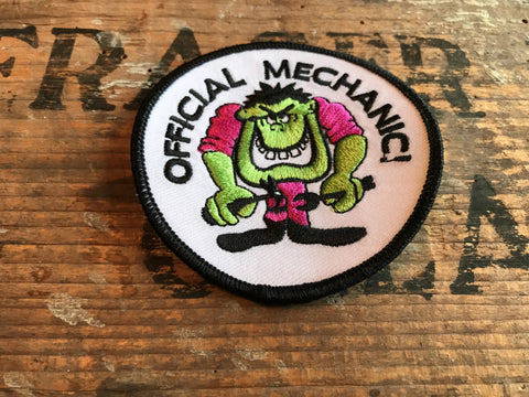 OFFICIAL MECHANIC! Monster Motorcycle Patch!