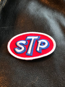 Vintage STP OIL Motorcycle Racing - Hot Rod Patch!