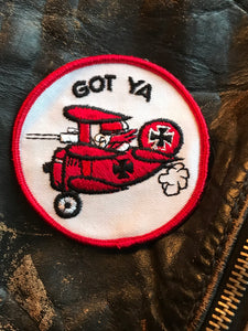 Vintage Chopper Motorcycle Red Baron Vest Patch!