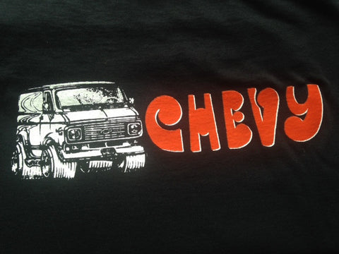 Custom Chevy Boogie Van Shirt -1971 1972 1973 1974 1975 1976 Vannin Shorty