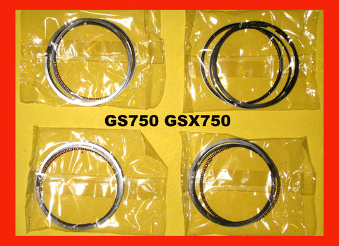 Suzuki GS750 GSX750 Piston Ring Set 4 Sets! 1980 1981 1982 1983 1984 1985 1986