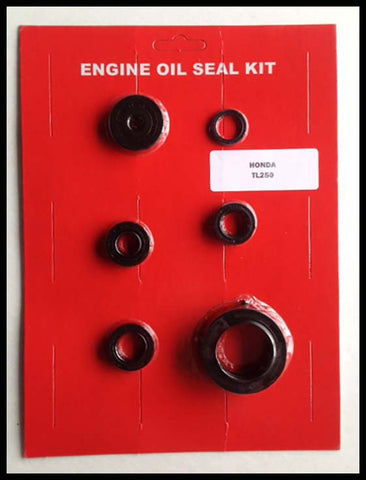 Honda TL250 Engine Oil Seal Kit 1975 1976 New - Trials Motorcycle 250