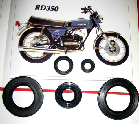 Yamaha RD350 350 1973 1974 1975 Engine Oil Seal Kit!