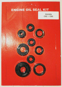 Honda C95 C92 125 150 Motorcycle Benly Crankcase Oil Seal Kit- Kick Clutch Sprocket