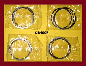 Honda CB400F CB400 Four New Piston Rings Set x4 1975 1976 1977- STD Standard