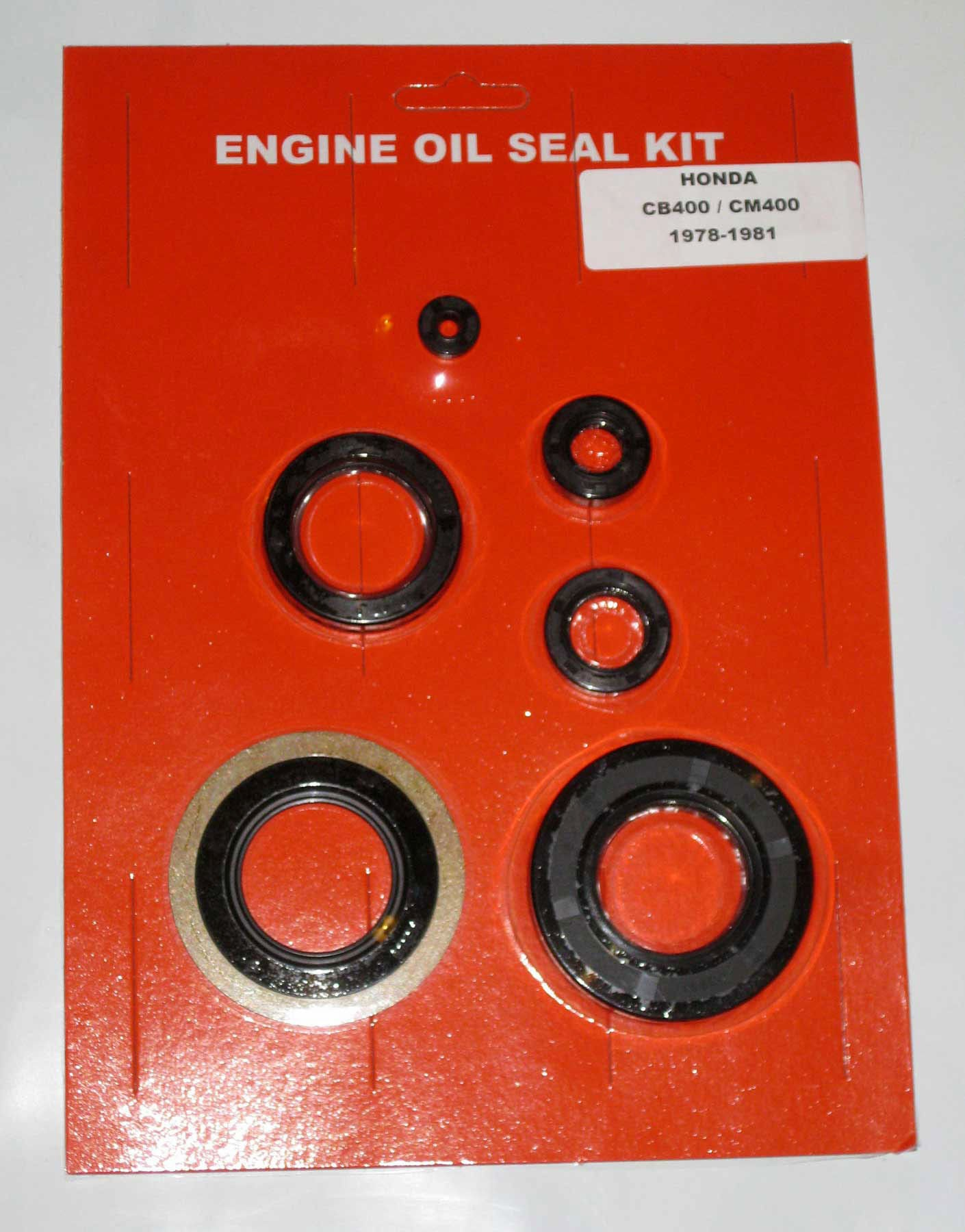 Honda CB400 CB400T CM400 CB400A Hawk Engine Oil Seal Kit 1978 1979 1980 1981