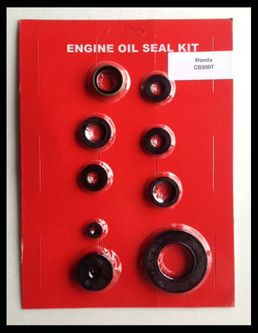 Honda CB500 CB500T Engine Oil Seal Kit! 1975 1976 Motorcycle 500