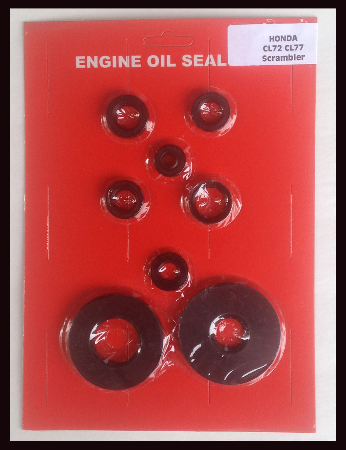 Honda CL72 250 CL77 305 Scrambler Complete Engine Oil Seal Kit