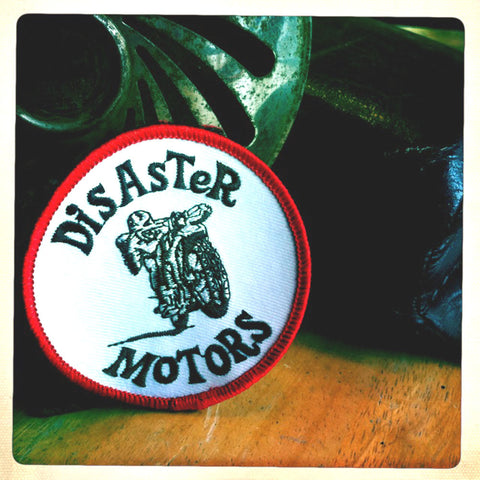 "Disaster Motors - ""Vintage Racer"" Shop Patch"
