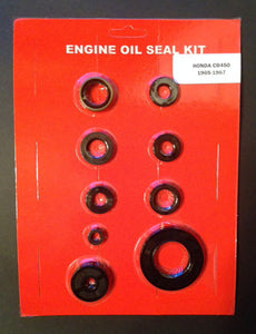 Honda CB450 Black Bomber Engine Oil Seal Kit for Engine 1965 1966 1967 Crank, Sprocket Clutch Shift Kick Seal