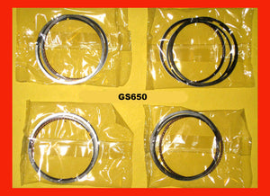Suzuki GS650 Piston Ring Set x4 Sets! STD. size 1981 1982 1983 #12140-34240