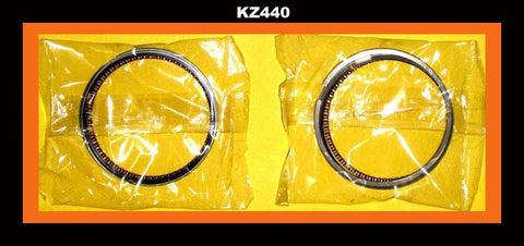 Kawasaki KZ440 440 Piston Rings Set x 2 STD size 1980 1981 1982 1983 Motorcycle!