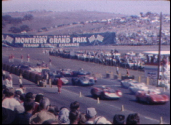 Vintage Car Race Film Porsche 356 Jaguar Corvette Lotus Cobra Laguna Seca 50's 60's