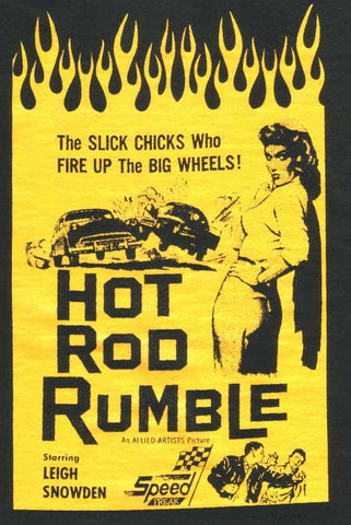 Hot Rod Rumble! - Shirt Ford Mercury Lincoln Zephyr Chevy 1939-1957