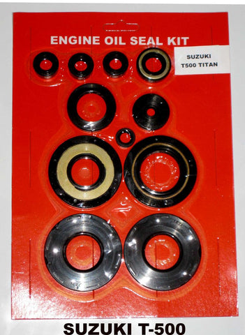 Suzuki GT500 500 Engine Oil Crank Seal Kit 1976 1977 - 11pc kit! (shifter clutch kick etc)