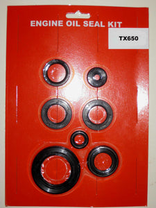 Yamaha TX650 Engine Oil Seal Kit! 1972 1973 1974 1975 1976 Crank, Kick, Clutch etc