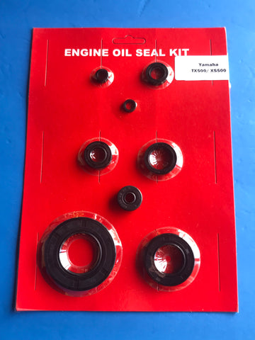 Yamaha TX500 XS500 Engine Oil Seal Kit 1973 1974 1975 1976 1977 1978