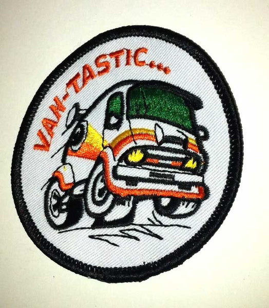 VANTASTIC Disco Vintage Hotrod Boogie Ford Dodge Chevy Van 1970's Patch/ Badge!
