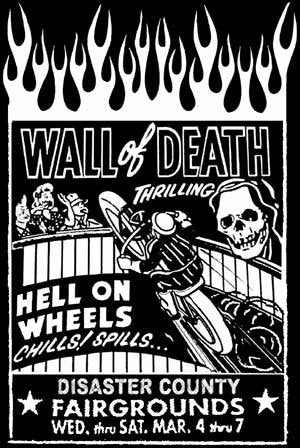 Wall of Death!  Vintage Motorcycle Shirt