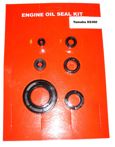 Yamaha XS360 Engine Oil Seal Kit ! 1976 1977 for Engine! 6pc kit.