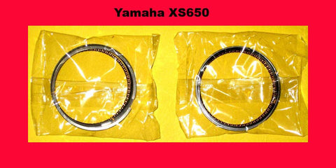XS650 Yamaha Piston Rings STD. Set x2 1974 1975 1976 1977 1978 1979-1984 650 !