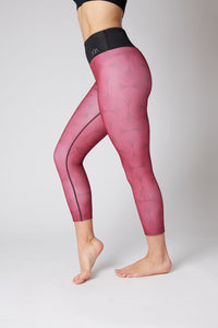 full length red thermal wear leggings for women
