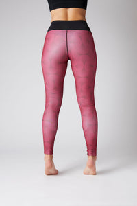 long red ladies thermal tights