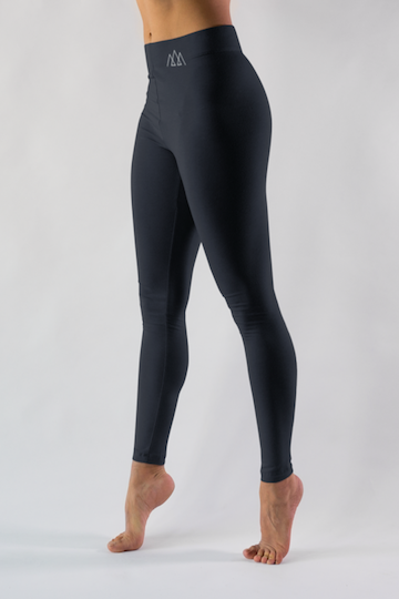 black winter thermal tights