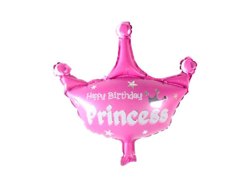 Happy Birthday Princess Crown Princess Foil Balloon - Instaparty.in