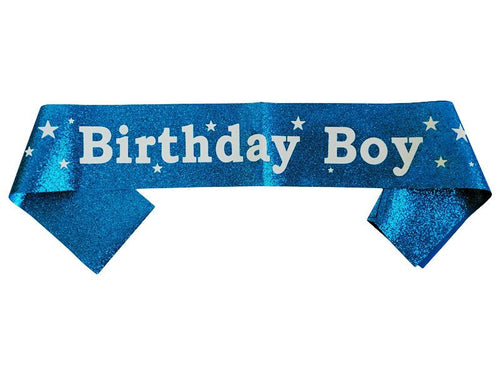 Birthday Boy Sash - Glitter Blue Color - Instaparty.in