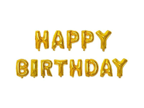Happy Birthday Foil Banner - Gold Color - Instaparty.in