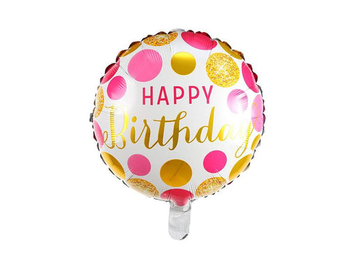 Round Happy Birthday Foil Balloon - Instaparty.in