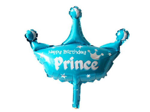 Happy Birthday Prince Crown Foil Balloon - Instaparty.in