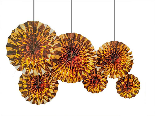 Paper Fans - Gold Color - Instaparty.in