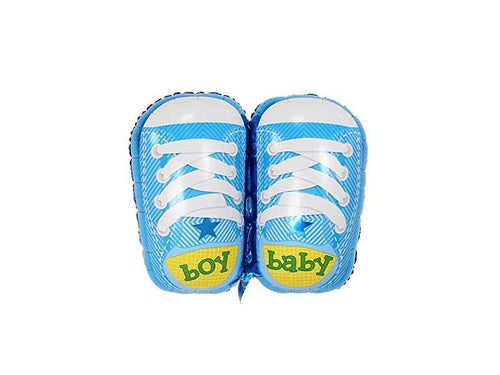 Baby Boy Shoe Foil Balloon - Blue Color - Instaparty.in