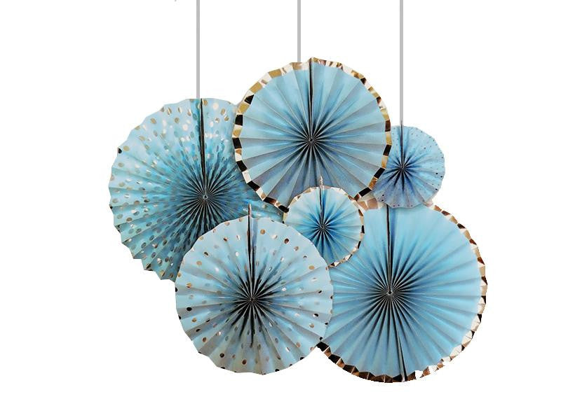 Paper Fans - Blue Color - Instaparty.in