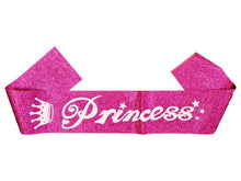 Load image into Gallery viewer, Princess Sash - Glitter Pink - Instaparty.in