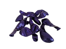 Load image into Gallery viewer, Metallic Violet Balloons - Pack of 15 - Instaparty.in