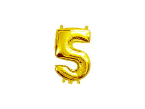 Gold Color Number Foil Balloon - Instaparty.in